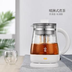 鸣盏煮茶器全自动家用多功能加厚玻璃蒸汽养生壶花黑茶小电煮茶壶