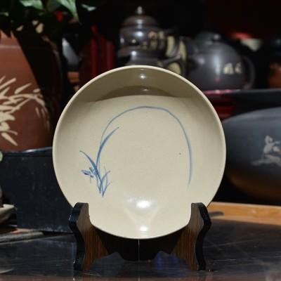 云南玉溪华宁陶多用途小盘子纯手工手绘上釉装饰
