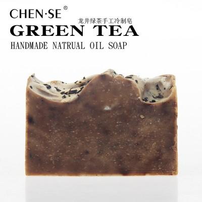 龙井绿茶手工冷制绿茶手工皂天然茶叶滋润保湿清爽洁面沐浴皂精油皂冷制皂香