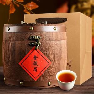 金骏眉武夷山茶叶2019新茶浓香型散装金俊眉红茶罐木桶礼盒装500g