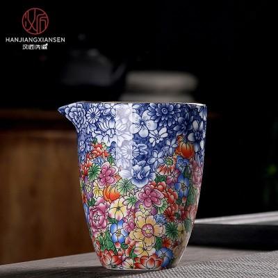 公道杯茶具琳琅彩茶海剩茶器分茶器功夫茶杯茶具配件250毫升