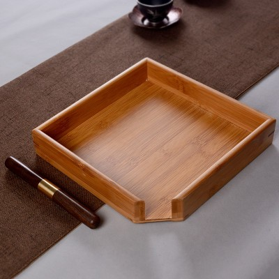 茶盘茶盒评审盘实木茶饼盒茶道开茶盘竹制分茶盘茶刀茶针功夫茶具配件