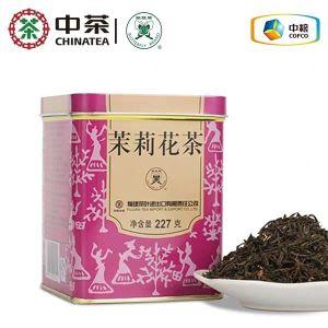 中茶蝴蝶牌 特级茉莉花茶 罐装散茶227g 官方正品
