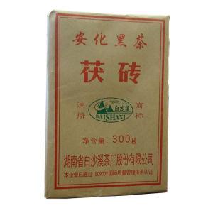 黑茶湖南安化黑茶金花茯砖茶白沙溪300g