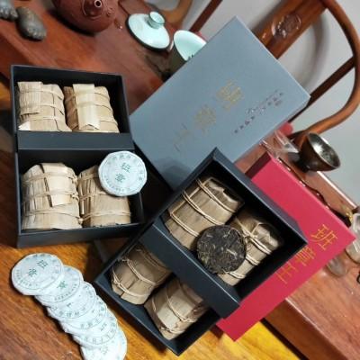 班章王属普洱茶中的上品,09年毛料,16年压饼一盒4筒一筒7片一片7克