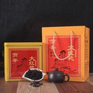 大红袍茶叶手工茶叶武夷岩茶金属铁盒罐装礼盒500克