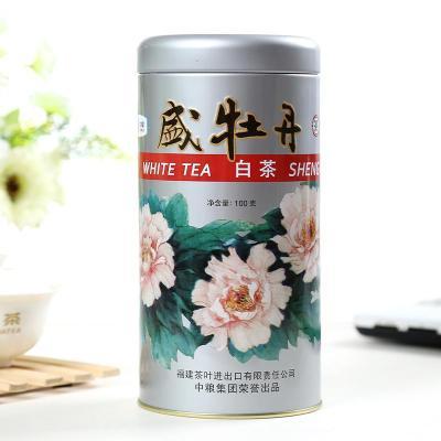 中茶盛牡丹2019年中茶白茶福建高山白茶 白牡丹100g