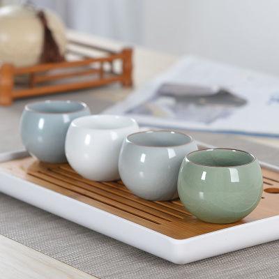 陶瓷茶杯品茗杯功夫茶具单杯主人杯汝窑哥窑茶杯110毫升