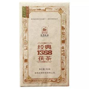 泾渭茯茶2017年泾阳茯砖茶经典1368金花茯茶砖900克