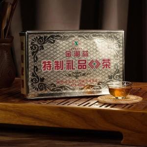 湘益茯茶 黑茶 湖南安化黑茶 金花茯砖茶叶 2014年金湘益800g