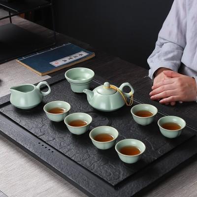 汝窑茶具套装  陶瓷整套茶壶茶杯盖碗  家用礼品套装