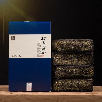 黑茶安化正宗十年老料手筑金花黑茶特级茯砖湖南安化1kg老茶黑茶