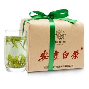 安吉白茶 狮峰牌春茶绿茶 雨前一级 传统纸包100克