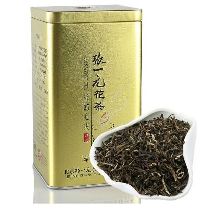 张一元茉莉花茶茉莉毛尖金桶特级浓香型2019新茶200g