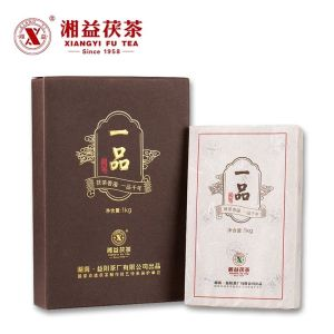 湘益茯茶安化黑茶金花茯砖茶2018一品黑茶金花黑茶特级茶1000克