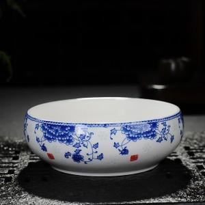 陶瓷茶具水洗大号青花陶瓷茶洗笔洗功夫茶具茶道配件水盂水洗水缸水仙花盆