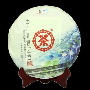 中粮集团 2018年中茶孔雀之春 青饼生茶普洱357g茶叶茶饼