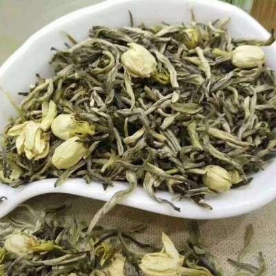 茉莉花茶茉莉飘雪2019新茶浓香型1罐250克