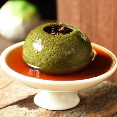 生晒新会小青柑500g 茶叶 陈皮普洱茶 大份量木桶装 青皮柑柑普茶