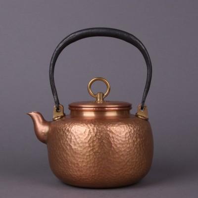 精品纯手工铜器尺寸:壶约D16×H20容量:约1200ml