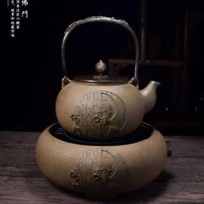 收藏级日本原装铁壶(套装)【品牌】龟鹤堂【容量】1200mL