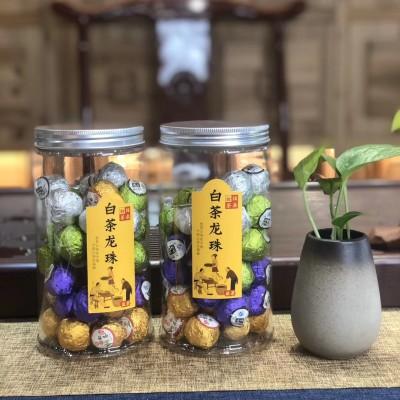 白茶龙珠 福鼎白茶寿眉球形茶叶 礼盒罐装茶叶