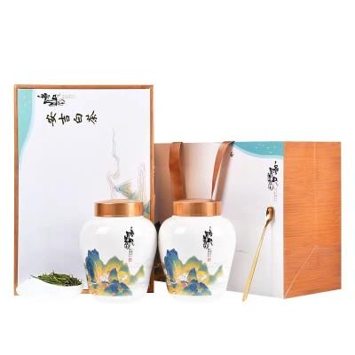 新茶正宗安吉白茶礼盒装 150g装陶瓷罐茶叶春茶 特级绿茶送礼