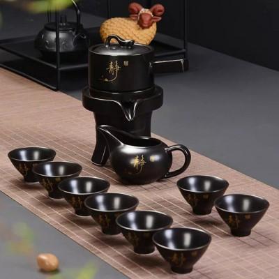陶瓷茶壶茶杯功夫茶具套装简易家用整套懒人半自动泡茶器