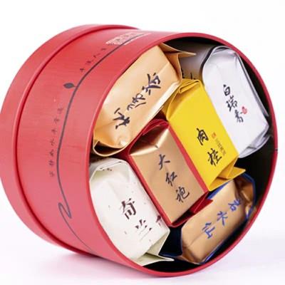6款茶试喝大红袍茶叶武夷岩茶肉桂茶水仙奇兰试喝茶叶礼盒装2盒12个