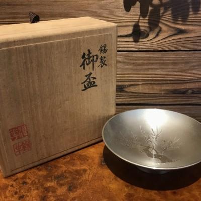 本锡 日本 锡制御盃 原木盒