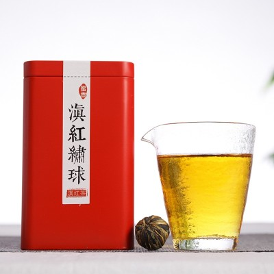 2019头春滇红茶 云南手工功夫滇红茶 绣球红茶金芽金丝 250克/罐