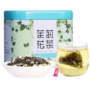 【买2送勺】茉莉绿茶茉莉花茶三角袋泡茶绿茶花草茶叶