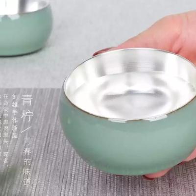 建盏主人杯金盏兔毫鹧鸪油滴茶具红茶刘雄手作青柠