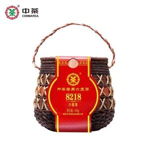 中茶六堡茶8218广西梧州窖藏六堡陈年散茶500g箩装中粮茶叶