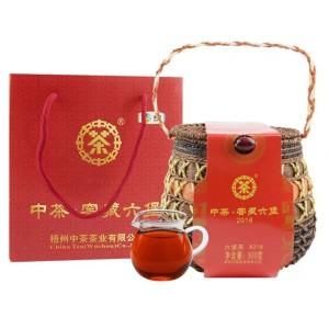中茶中粮六堡茶8218广西梧州正品特级去湿窖藏陈年散茶叶500g箩装
