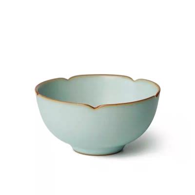 青澹汝窑 汝窑功夫茶主人杯茶碗纯手工景德镇陶瓷茶盏单杯复古开片青瓷茶具