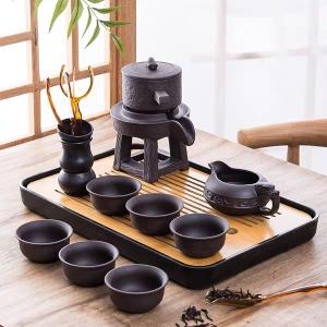 紫砂懒人茶具套装 半自动家用简约现代泡茶创意防烫功夫茶杯茶壶