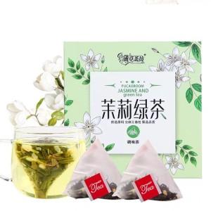 茉莉花茶绿茶饮料浓香型茶叶茶包养生茶三角包独立小包装20包