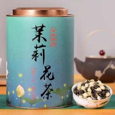 1斤1大罐茉莉花茶浓香型花茶茶叶花草茶绿茶高山散装500g罐装送礼