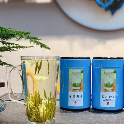 新茶茉莉针王具有安神,解抑郁,调节情绪,健脾理气等功效,一斤4罐