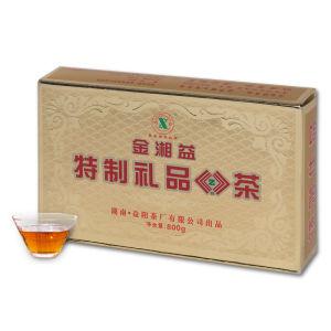 湖南安化红茶金花茯砖茶金湘益2010安化黑茶800克