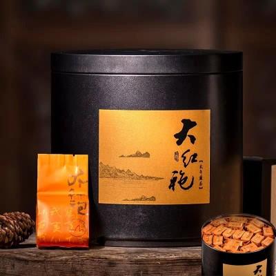 大红袍 特级大红袍茶叶浓香型武夷岩茶肉桂茶散装罐装礼盒装500g