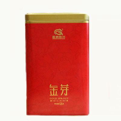 茗纳百川茶叶 散装茶 云南滇红茶 蜜香 凤庆大金芽250克 铁罐装