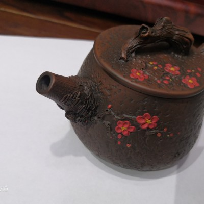 云南建水紫陶茶壶纯手工梅花西施壶泡茶壶普洱功夫茶具套装紫陶壶