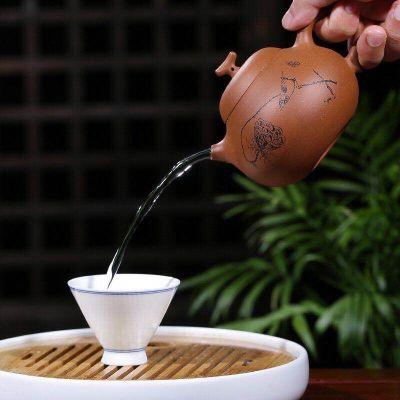 宜兴原矿降坡泥全手工紫砂壶茄瓜家用泡茶壶功夫茶具
