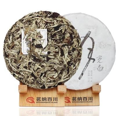 云南普洱茶生茶茶饼白茶工艺白牡丹景谷美人茶叶 老树月光白357克