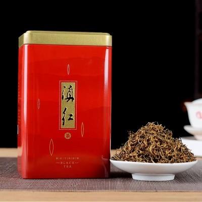 云南滇红茶 特级 2020年散装茶茶叶 小金丝250克 罐装