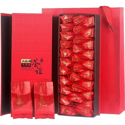 武夷山大红袍茶叶 肉桂乌龙茶30泡包礼盒装 红茶厂家直销