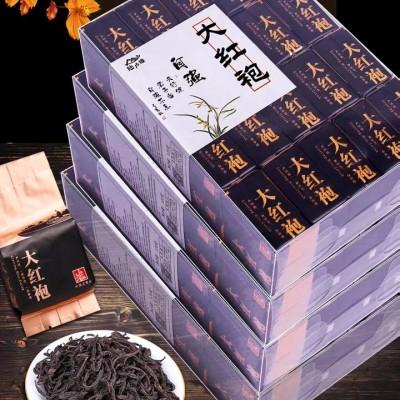 新茶武夷山岩茶大红袍茶叶礼盒装浓香型肉桂乌龙茶小袋装散装岩茶