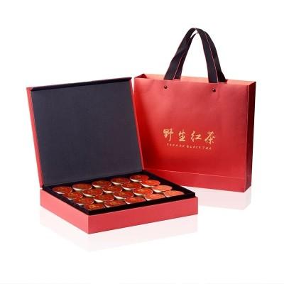 春节送礼云南滇红单株野生红茶茶叶礼盒装小金罐茶组合4g*20罐